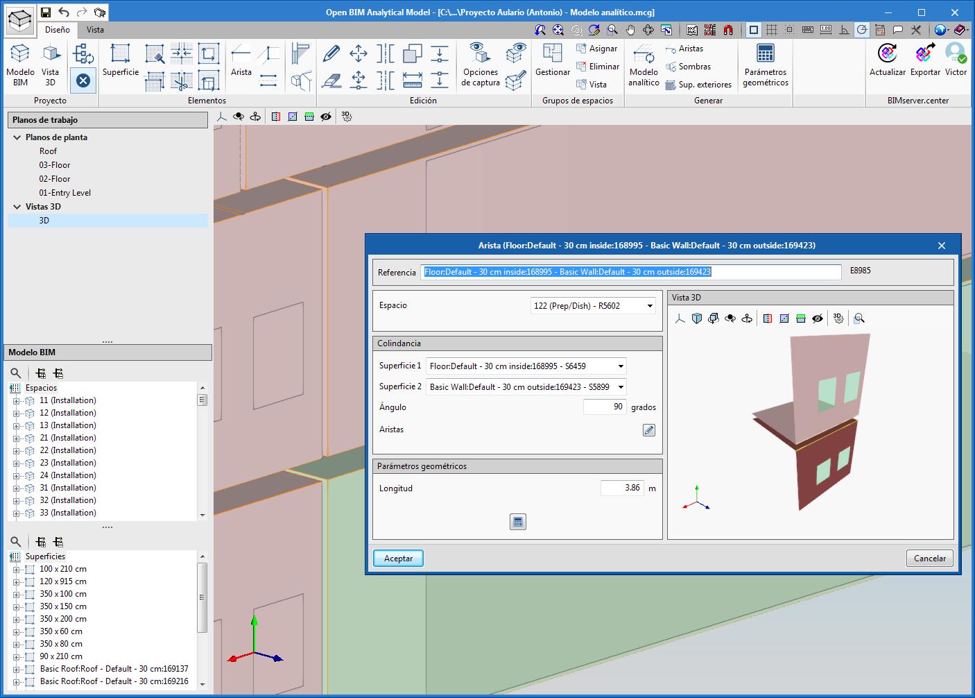 Open BIM Analytical Model. Generación de modelos geométricos analíticos para su estudio energético y acústico